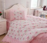 King Queen Full Twin Princess Shabby Floral Chic Pink ...