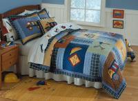 Boy Construction Truck Twin Quilt Bedding Kid Bed Set | eBay