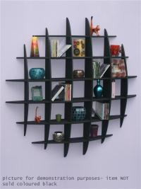 DVD CD Storage Rack Wall Mounted Unit Retro Style Shelving ...