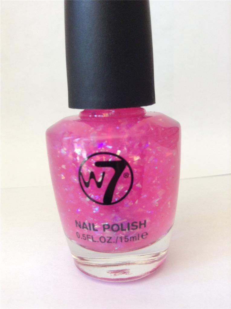 W7 Uv Neon Glitter Nail Polish Various Colours New