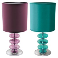 LLOYTRON VIENNESE TEAL PLUM LAMP TABLE DESK BEDROOM LIGHT ...