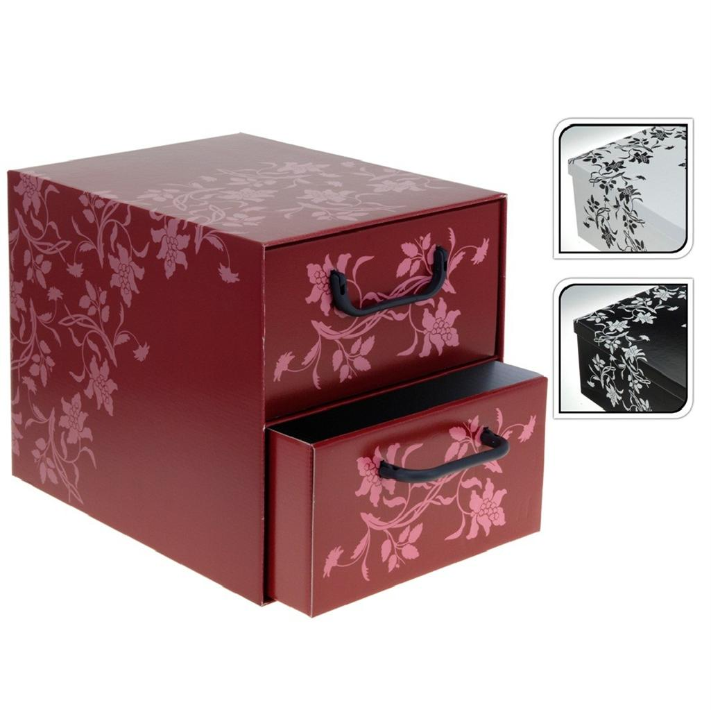 Bedroom Storage Boxes Italian Floral Cardboard Storage Box Drawers Cabinet Unit
