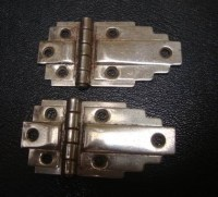 2 art deco hinges decorative hinges cabinet hinges Vintage ...