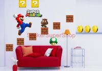Choose Size -SUPER MARIO BROS Decal Removable WALL STICKER ...