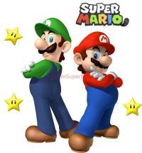 Super Mario and Luigi Bros Decal Removable Wall Sticker ...
