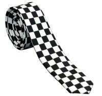 Checkered Skinny Tie 2-Tone Ska Punk Rockabilly Retro ...
