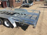 14x6.6 Tandem Car Trailer galvanised, Tire rack Australian ...