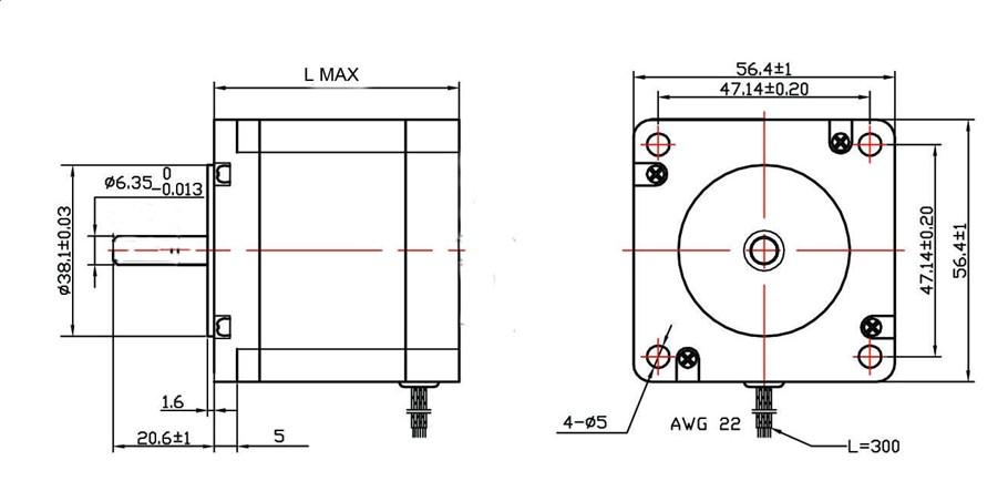 nema 23 stepper motor wiring diagram