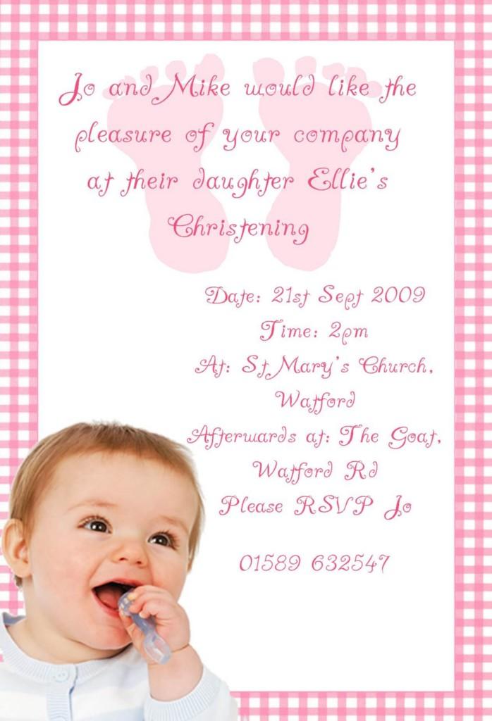Baby Girl Photo Christening Baptism Invitations Ebay