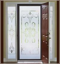 New SOUTH BEACH 32x74 Semi Privacy Etched Glass Decorative