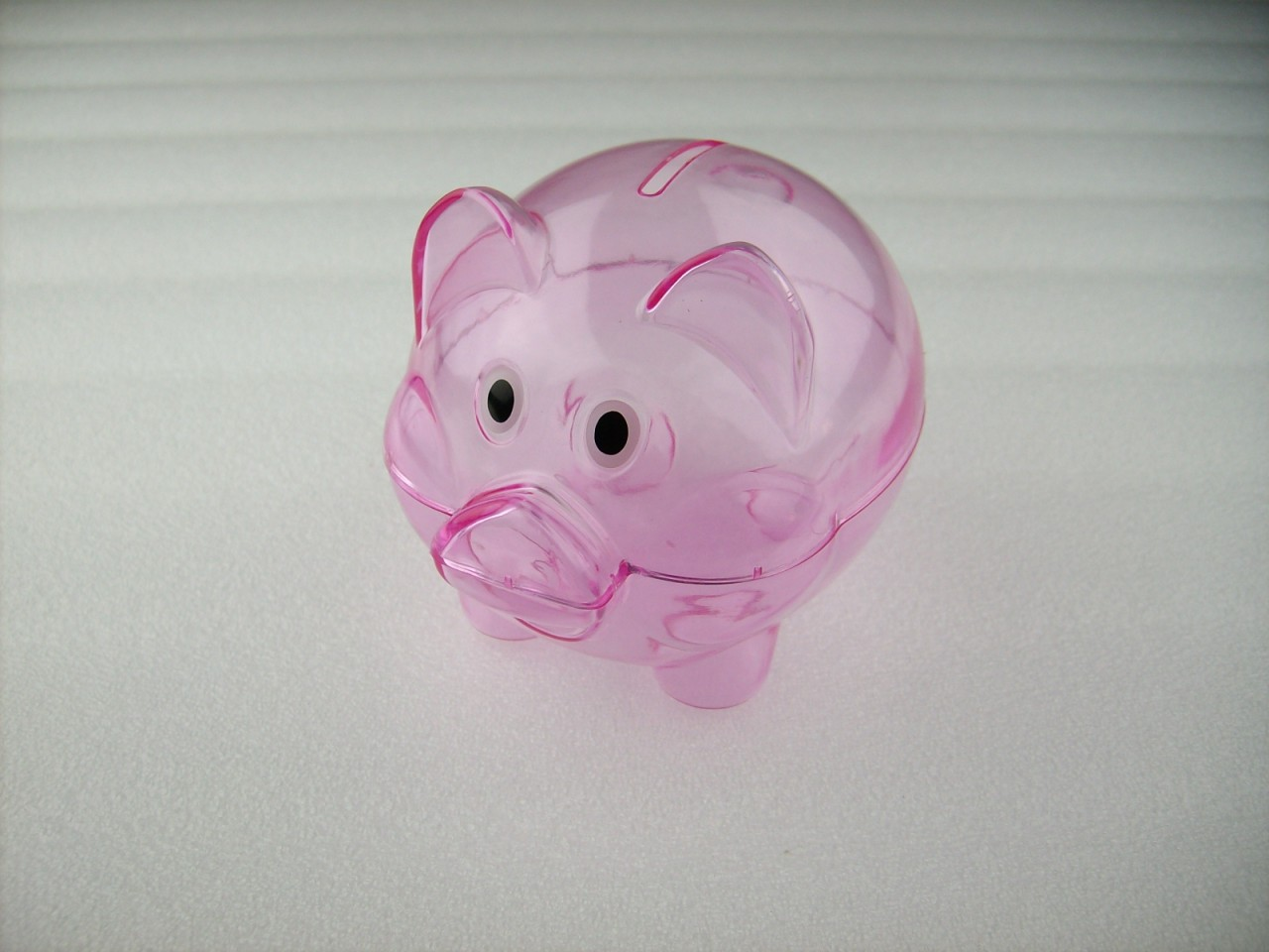 Pink Plastic Piggy Banks Mini Transparent Plastic Coin Pig Piggy Money Bank Pink