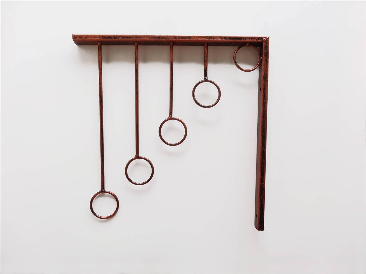 Clothes Hanger Wall Wall Mounted Metal Iron Clothes Hanger Rack Holder
