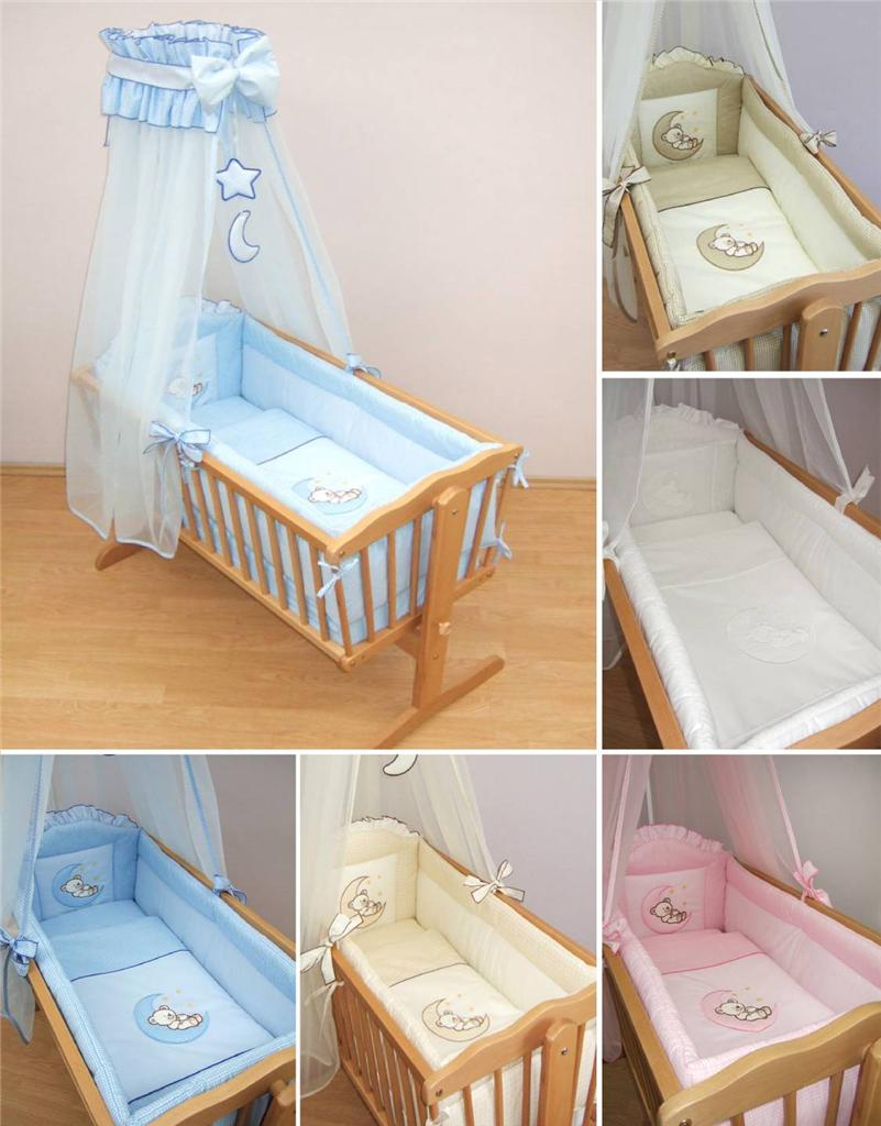 Baby Cradle Sheets Details About 10 Piece Crib Baby Bedding Set 90x40 Cm Fits Swinging Rocking Cradle Moon