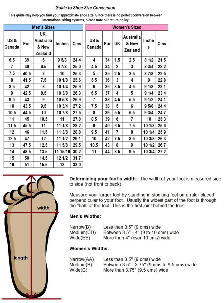29 simple Width Womens Shoes Chart \u2013 playzoa