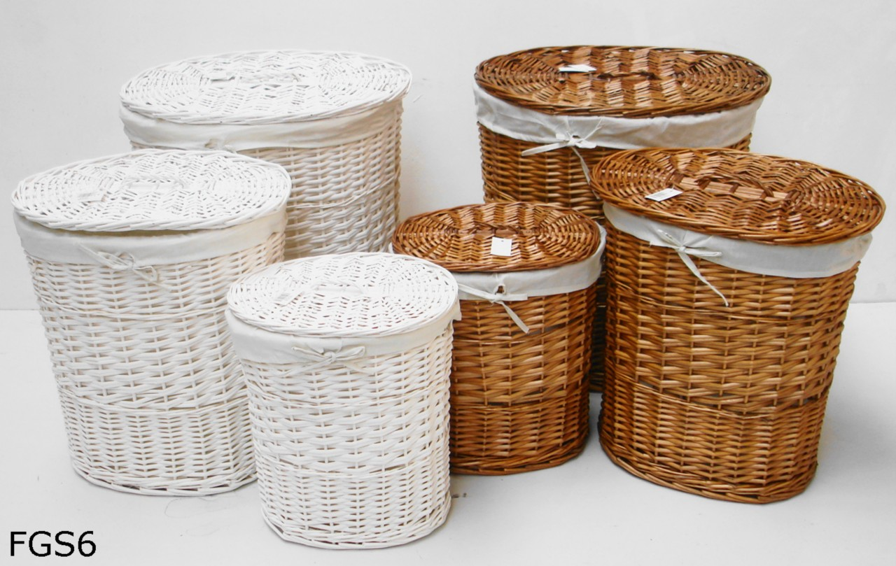 White Laundry Hamper With Lid Brown Or White Oval Wicker Laundry Basket With Lid And