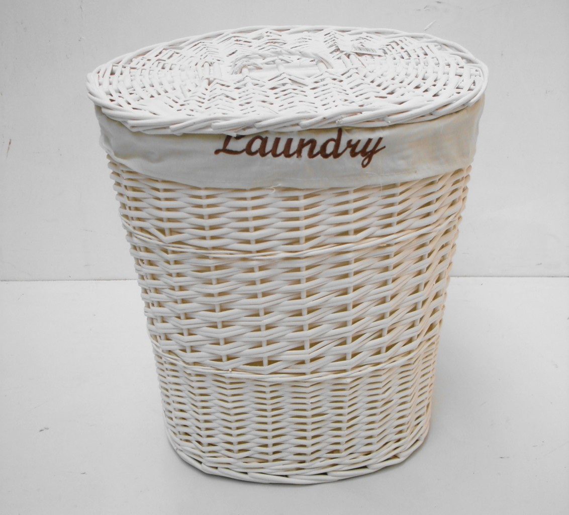 Black Wicker Hamper White Black Brown Wicker Round Oval Rectangle Laundry