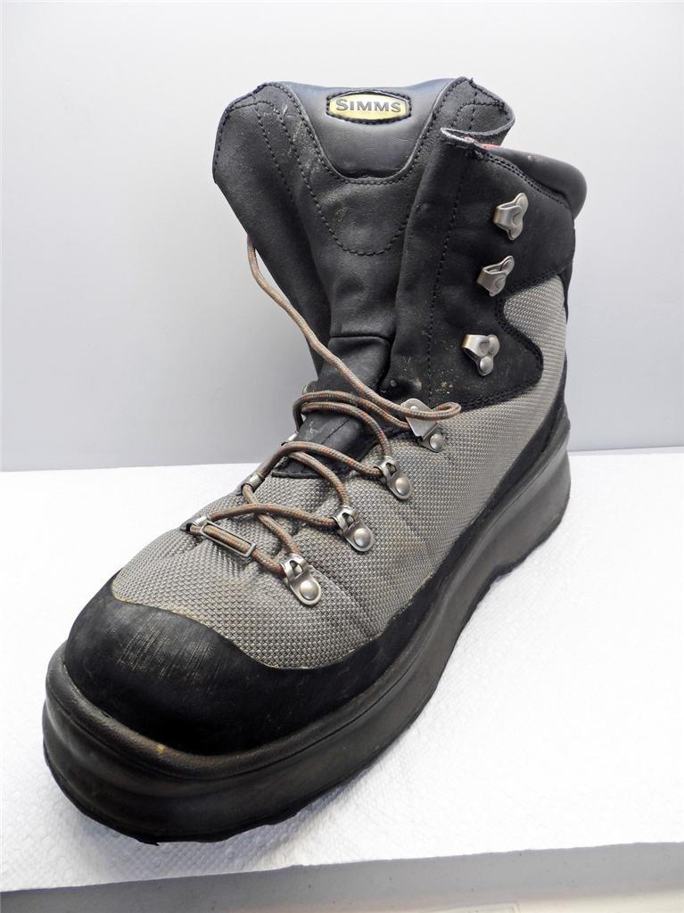 Simms G4 Guide Wading Boots Rubber Soles Size 13