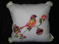 Cynthia Rowley decorative pillow for quilt BIRD TROPICAL ...