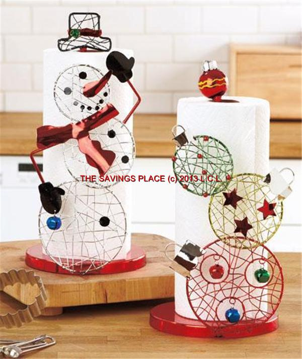 Christmas Holiday Paper Towel Or Toilet Tissue Holder