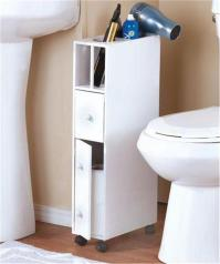 SLIM SPACE-SAVING ROLLING BATHROOM STORAGE ORGANIZER ...