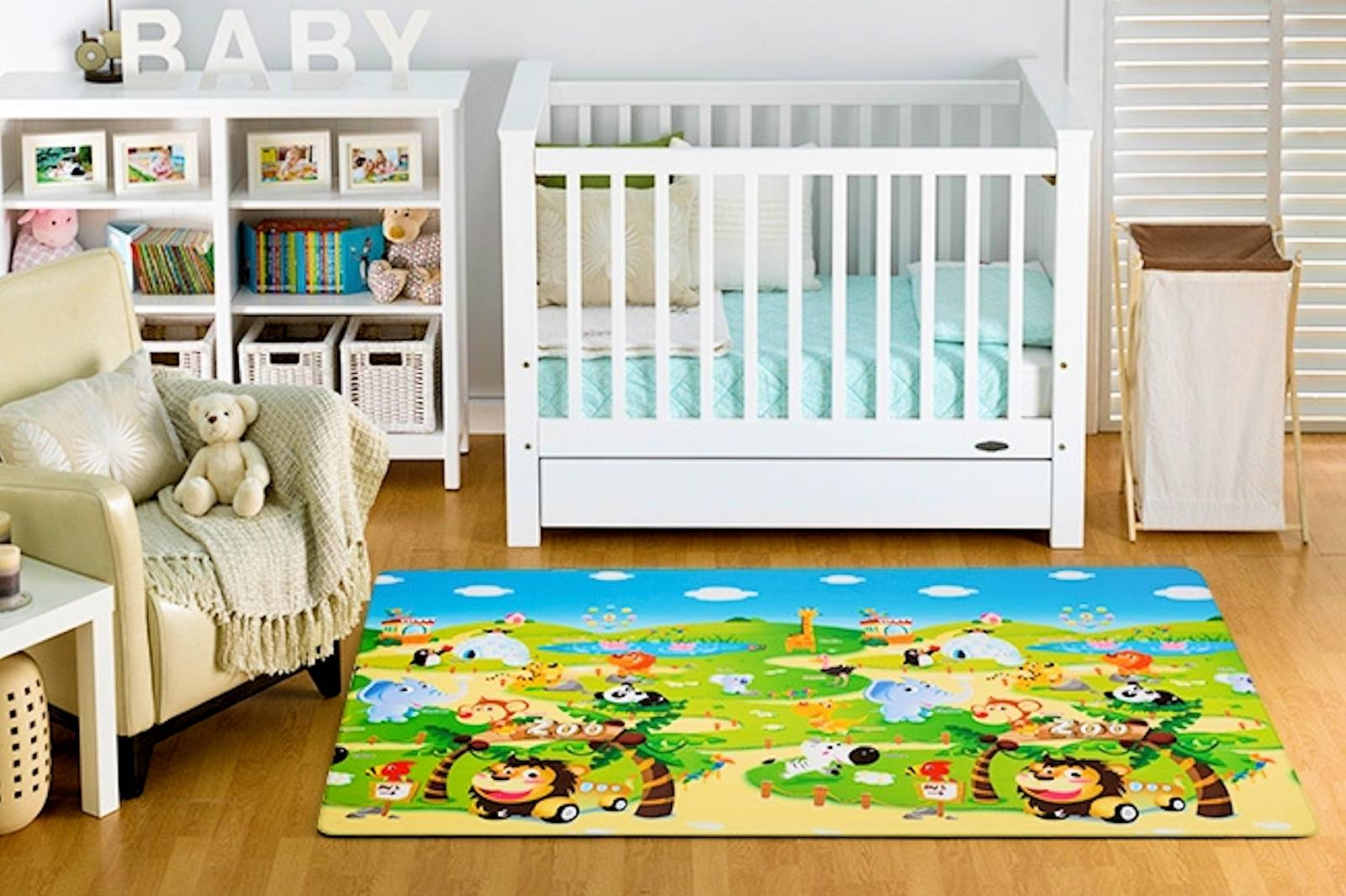 Alfombra 3m Baby Play Mat 1 9x1 3m Dwinguler Zoo Alfabeto Impermeable