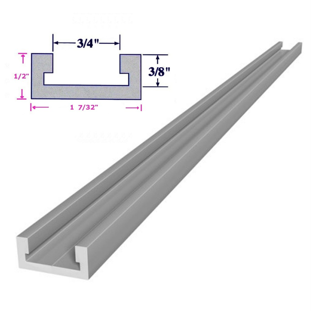 Bunnings Metal Racking 32 Quot Or 36 Quot Inch T Track T Slot Miter Track Jig Fixture