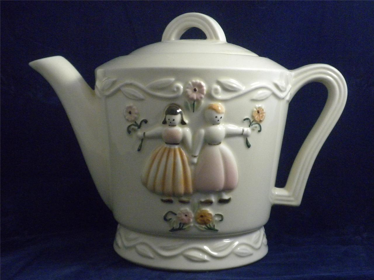 Making Tea In A Teapot Vintage Porcelier Vitreous Hand Made China Tea Pot Made N