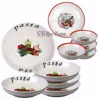Large 5 Piece Pasta Bowls Plates Dinner Set Spaghetti ...