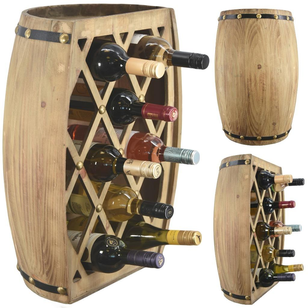 Wine Shaped Wine Rack Large Hand Made Freestanding Wooden Wine Rack In The Shape