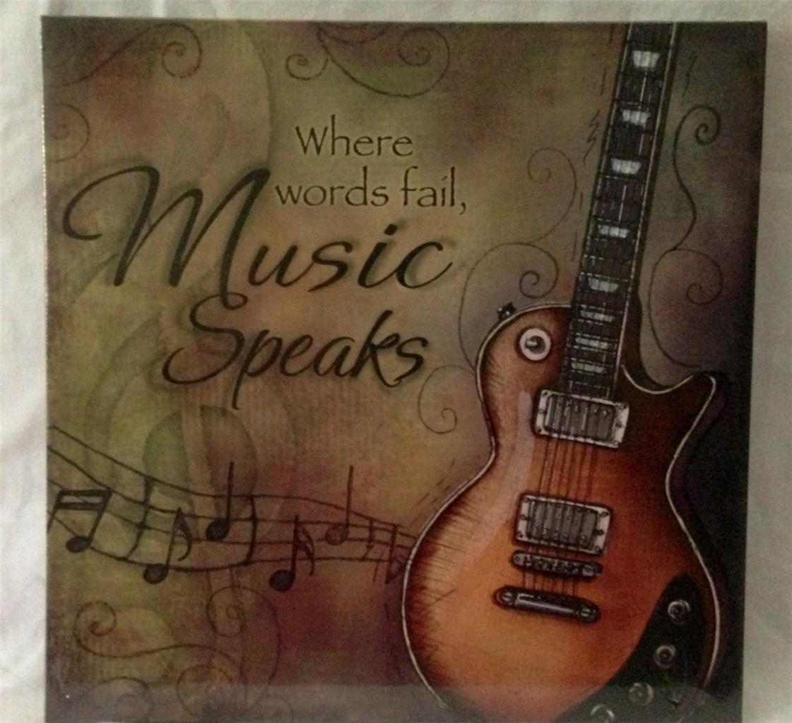 Music Themed Artwork Media Theatre Room Music Canvas Guitar Picture Home Decor