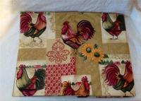"""ROOSTER COUNTRY KITCHEN TABLECLOTH VINYL 52""""x70"""" OBLONG ..."""