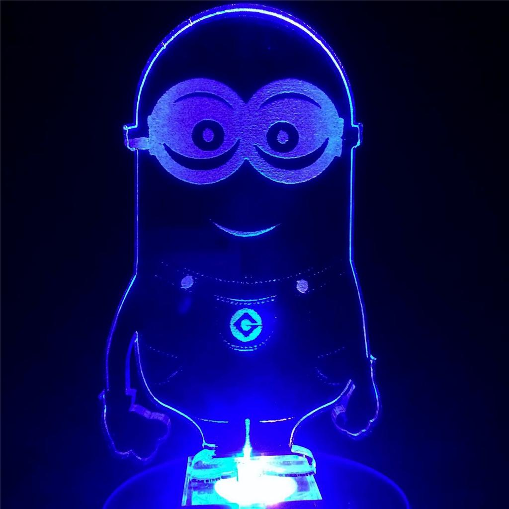 Childrens Nightlights Minion Flashing Night Light Cool N Gift For Kids Room Ebay