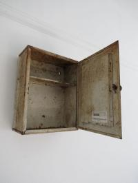 Vintage Bathroom Wall Cabinet Cupboard Art Deco Metal ...