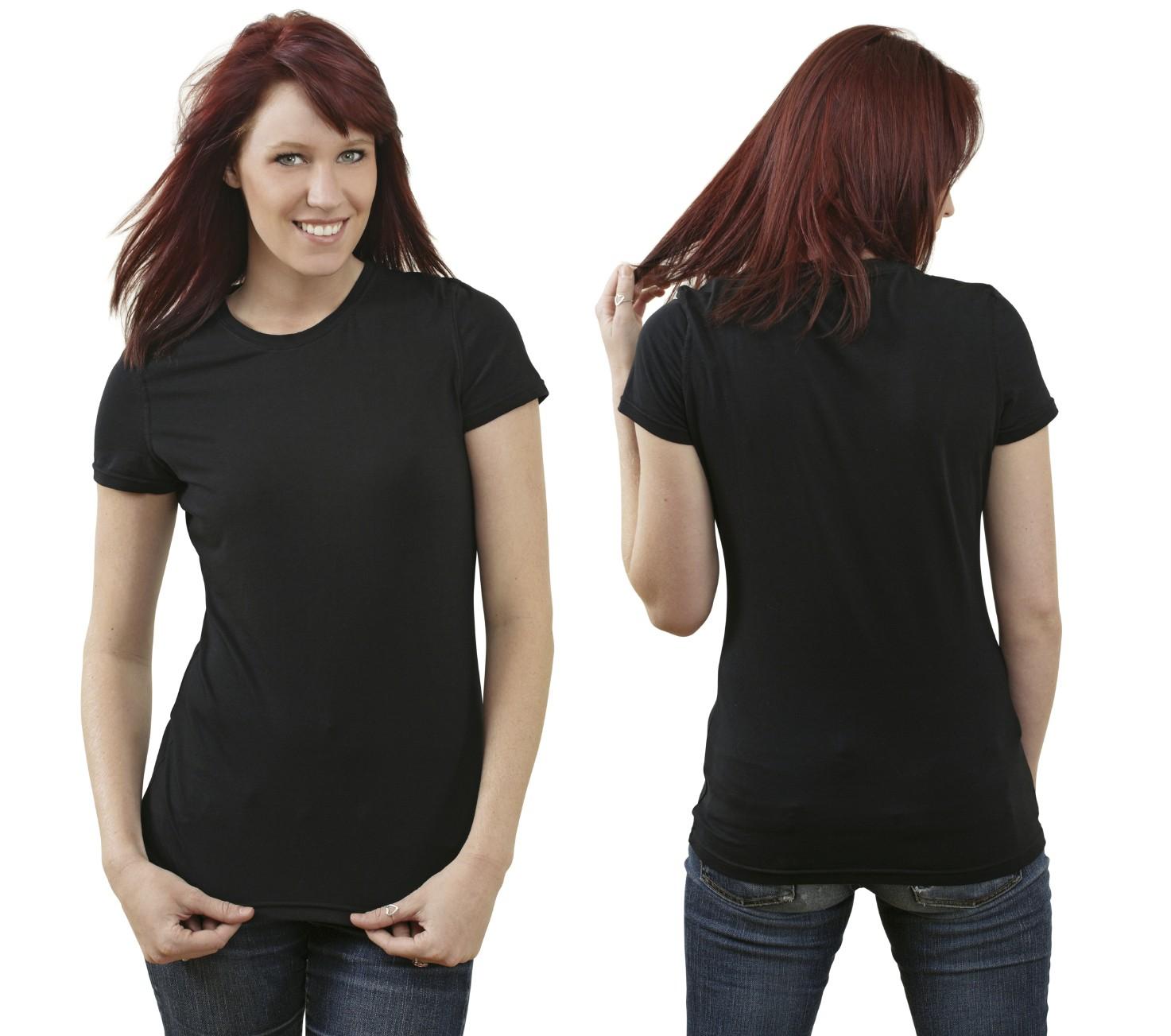 Girl in black t shirt