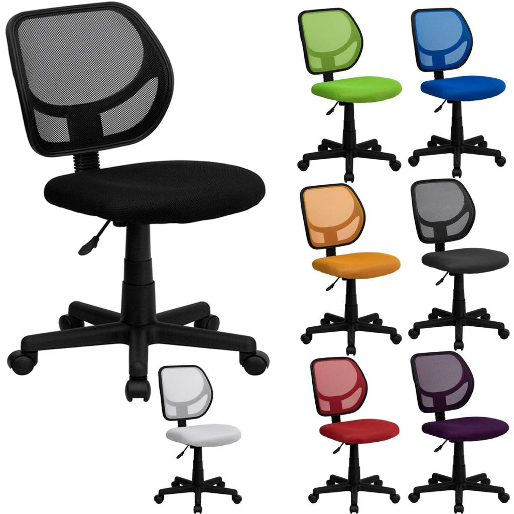 Colorful Desk Chairs Best Mid Back Mesh Task Desk Computer Office Chair Swivel