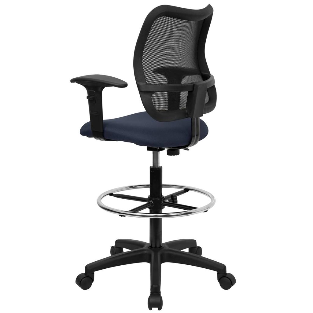 Best Desk Chair For Back Support Tall Office Desk Chair Mid Back Mesh Drafting Stool Swivel