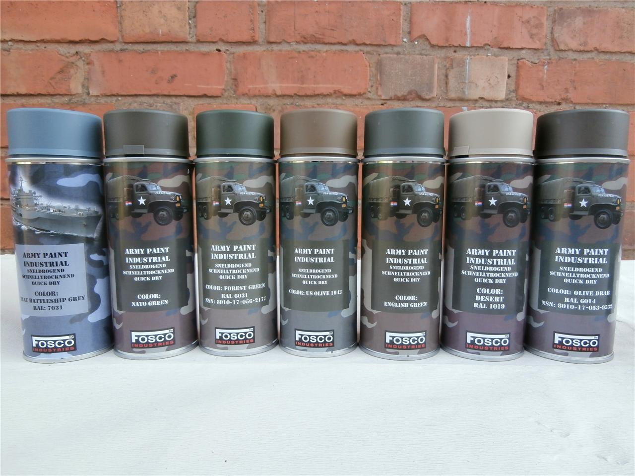 Industrial Grey Paint Army Spray Paint Cans 400ml Military Spec Paint Industrial