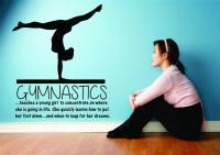 Gymnastics Teaching a Young Girl...LARGE Wall Decal ...