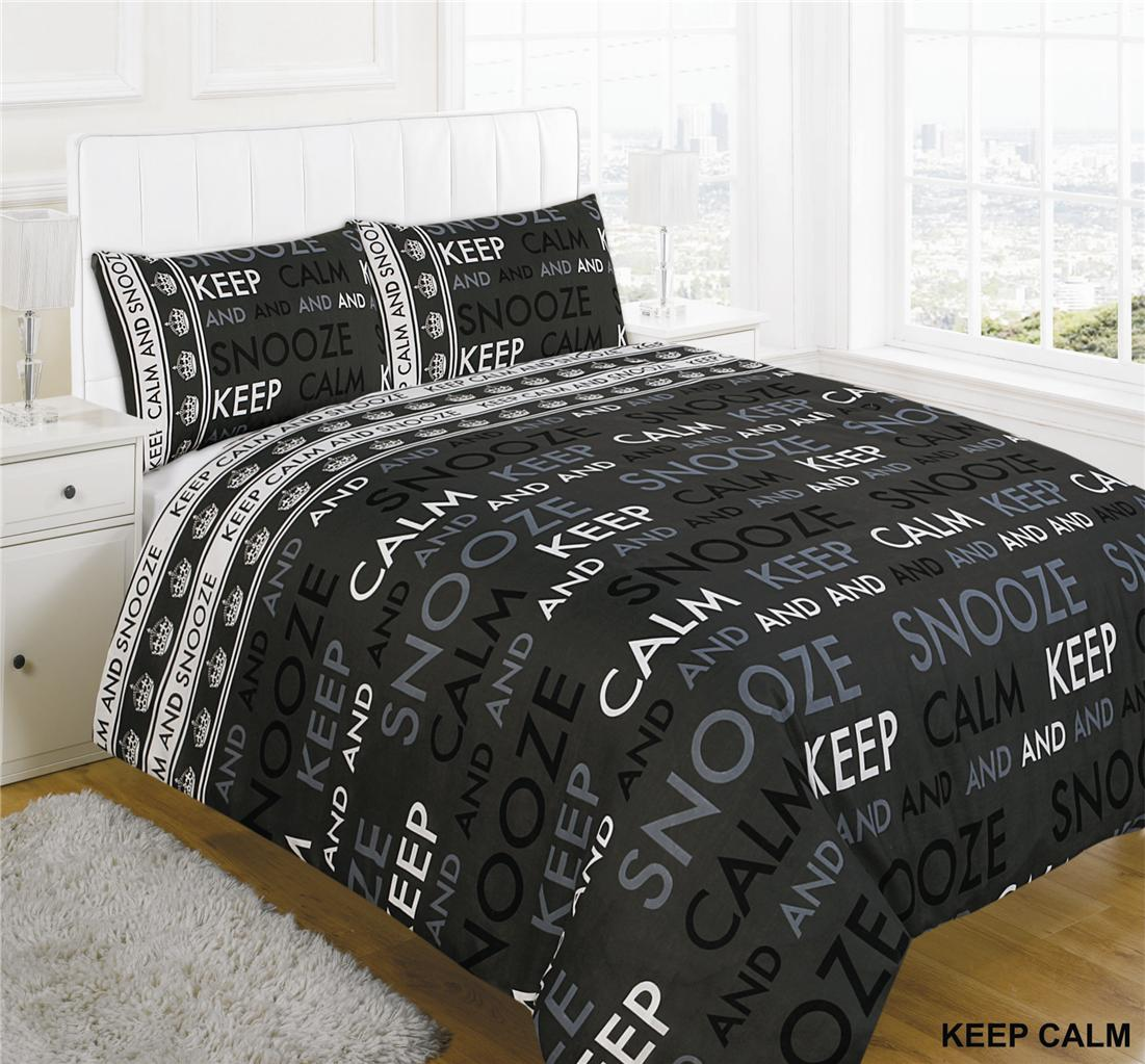 Snooze Single Beds Keep Calm And Snooze Duvet Cover Set With Pillow Cases