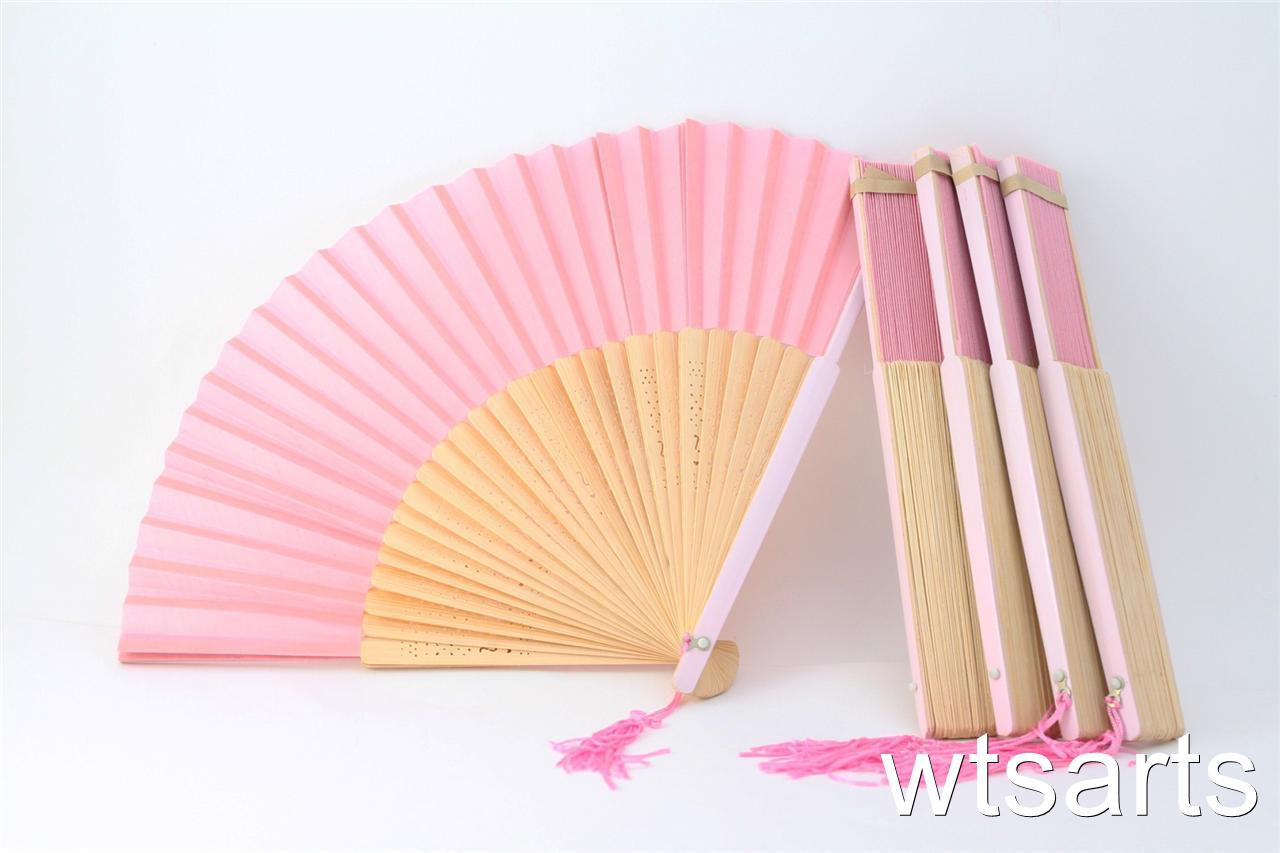 Fächer Selber Basteln Pink Fabric Hand Fan Wedding Favour Parties Fancy Dress