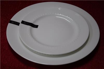 Beautiful Roscher Hobnail Bone China Salad Plates White Set Of 4 ...