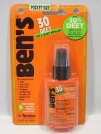Ben's Wilderness 1.25 Oz Pump Spray 30% Deet Tick Mosquito ...