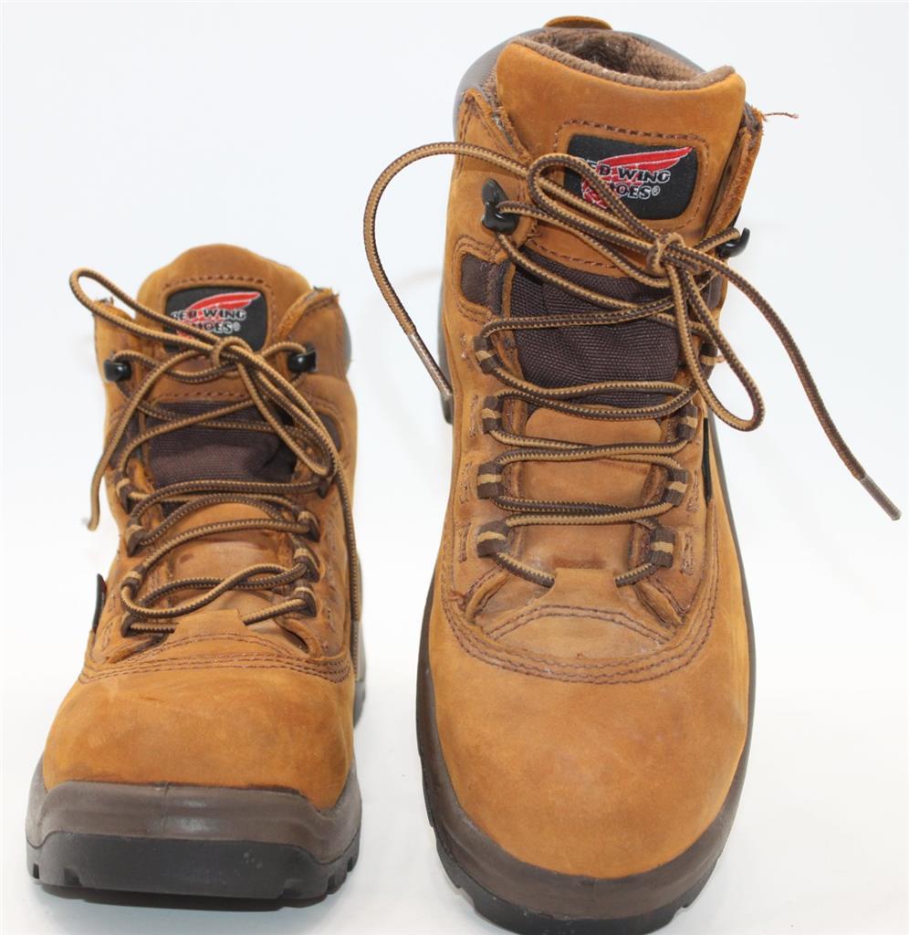 Red Wing Women39s Brown Leather Steel Toe Waterproof Work