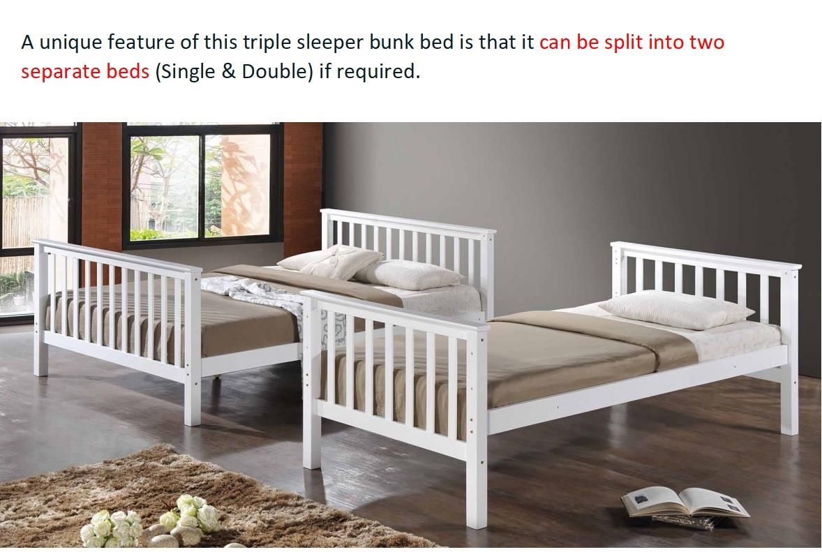 Bunk Bed Melbourne New Bunk Bed Single Over Double Free Melbourne Delivery