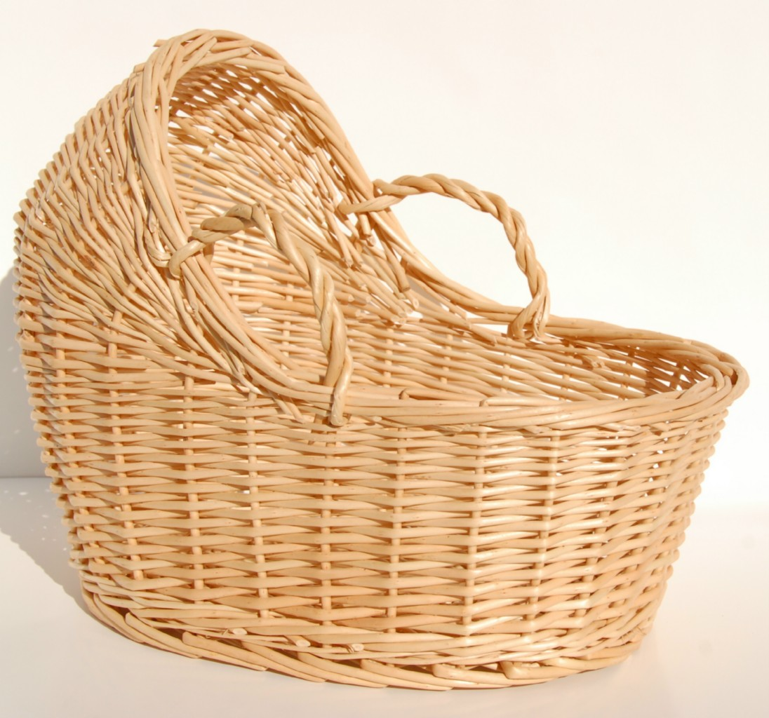 Baby Basket Bassinet New Willow Wicker Bassinet Basket Baby Shower Gift 12 Quot Ebay