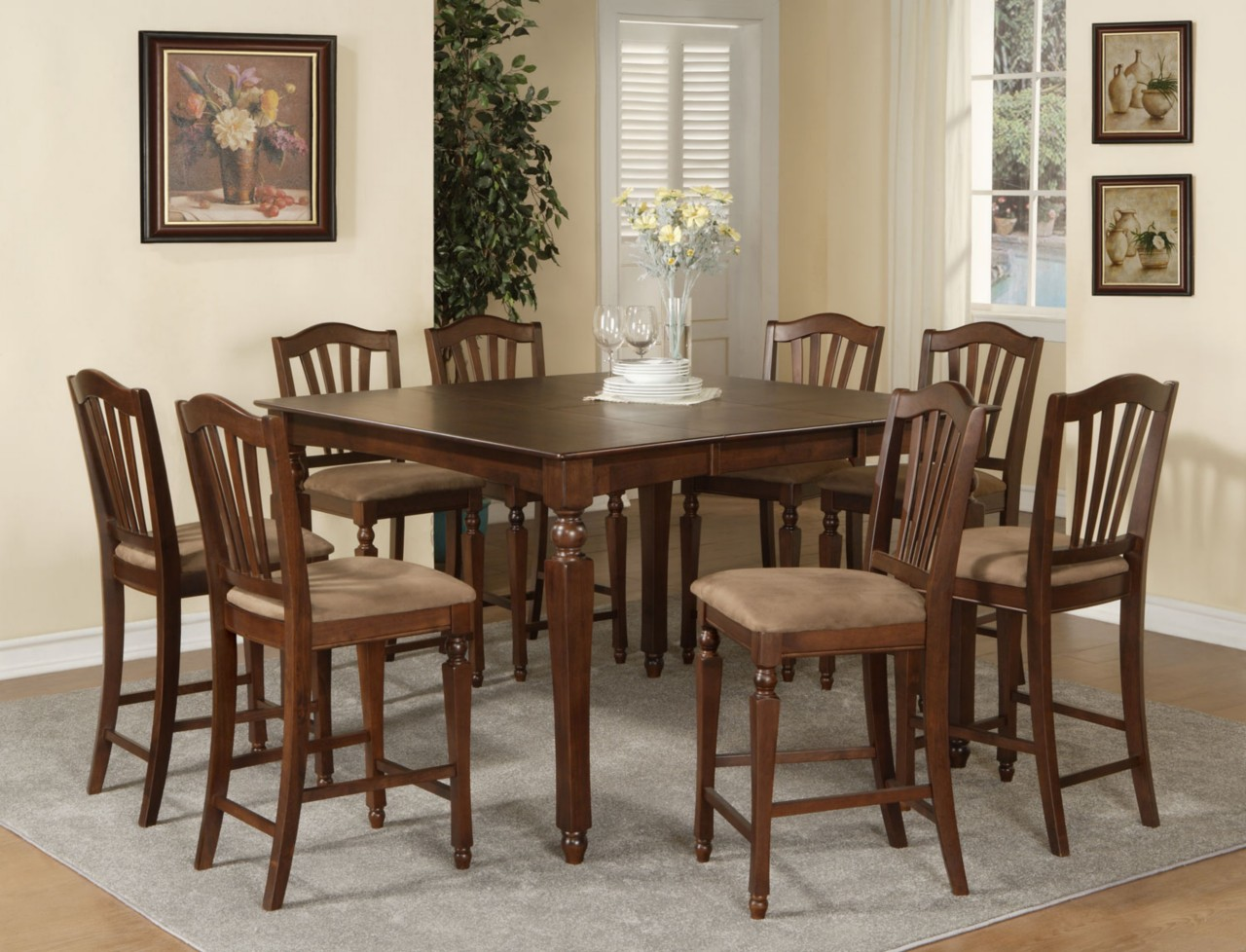 Square Dining Room Tables That Seat 8 Dining Room Square Table Seat 8 Room Ornament
