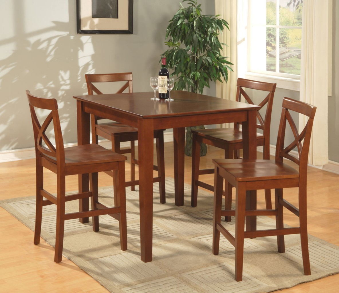 kitchen chairs bar height kitchen bar height chairs kitchen table and counter height kitchen chairs 5PC SQUARE PUB SET COUNTER HEIGHT TABLE WITH 5 WOOD SEAT STOOLS IN
