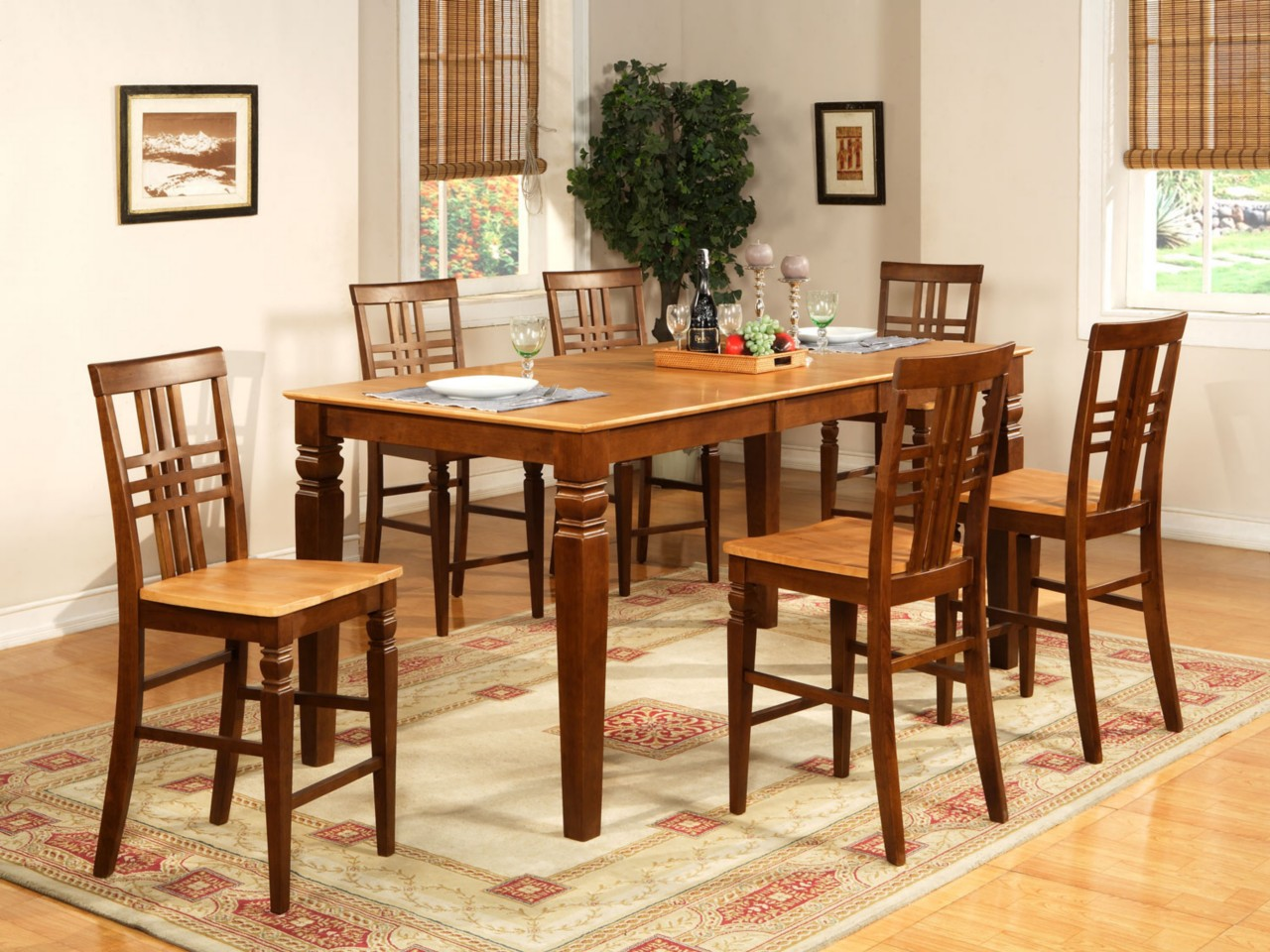 counter height table jofran dining set kitchen table efurnituremart bar top kitchen tables 9PC DINETTE KITCHEN COUNTER HEIGHT TABLE WITH 8 CHAIRS IN ESPRESSO