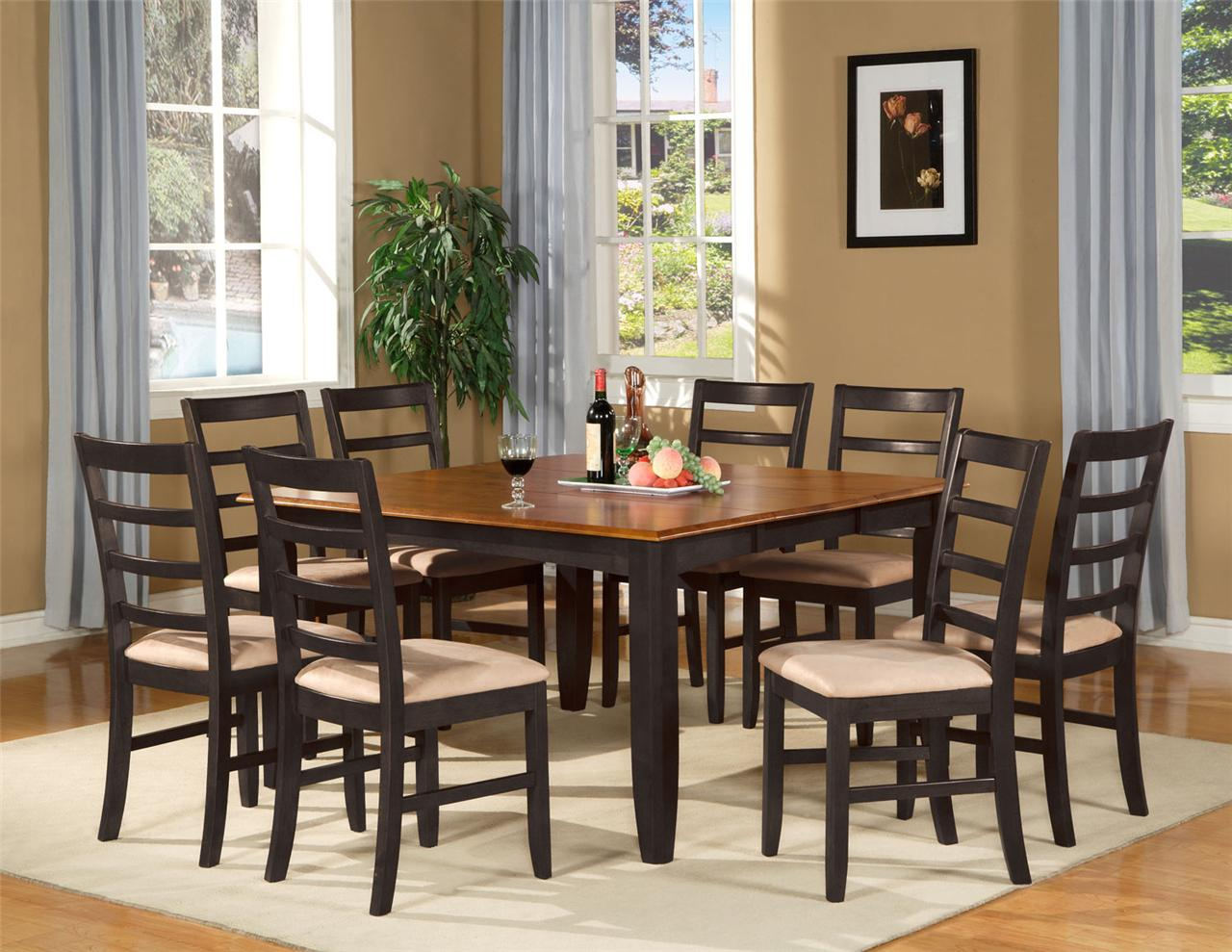 Square Dining Room Tables That Seat 8 9 Pc Square Dinette Dining Room Table Set And 8 Chairs Ebay