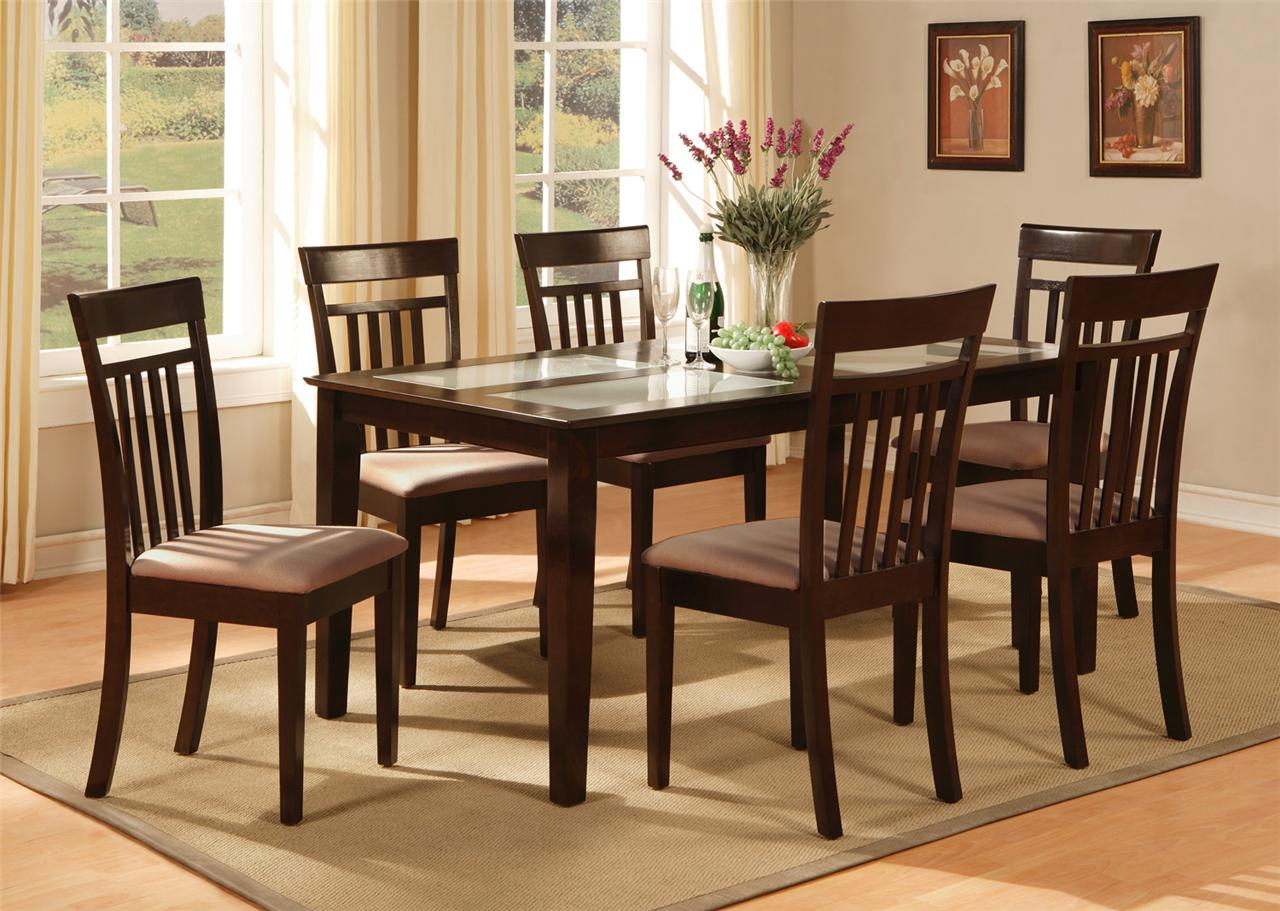 kitchen table sets wood kitchen table sets Kitchen Table Chairs 7 PC Capri Dining Room Dinette Kitchen Set Table and 6 Chairs in